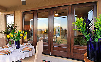 Mahogany French Doors