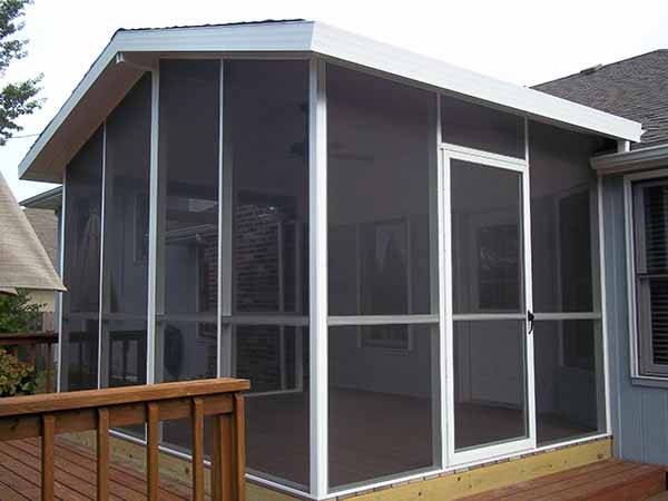 Roof Screen Wall : Screen rooms walls under existing roof springfield