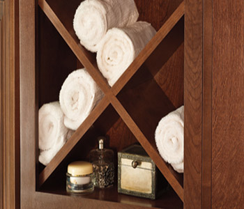 towel storage for bathroom cabinets
