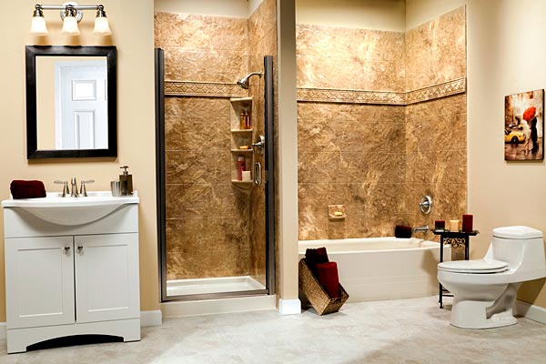 5 Phenomenal Bathroom Tile Combinations: Liberty Home Solutions, LLC