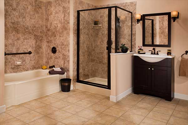 8x10 acrylic bathroom walls liberty home solutions llc for Bathroom designs 8 x 10