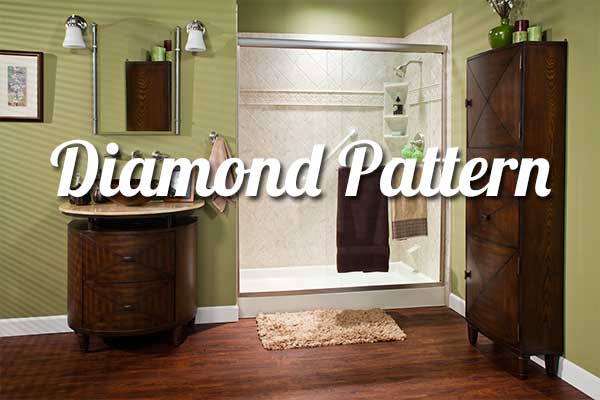 Diamond Bathroom Wall Surround Pattern