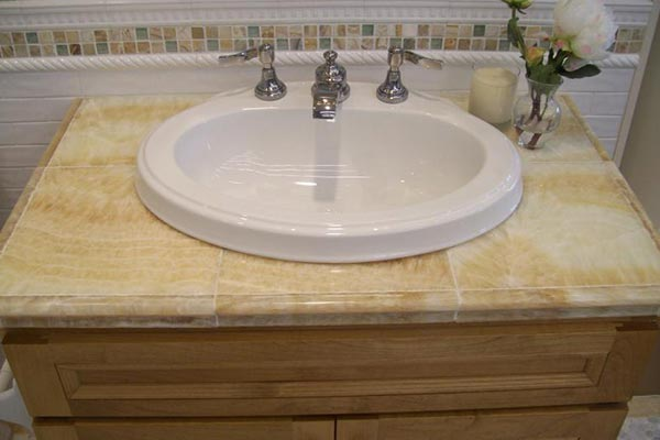 Tile Bathroom Countertops Liberty Home Solutions Llc