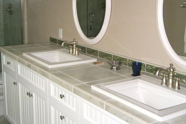 bathroom tile countertop ideas tile bathroom countertops liberty home solutions llc 16733