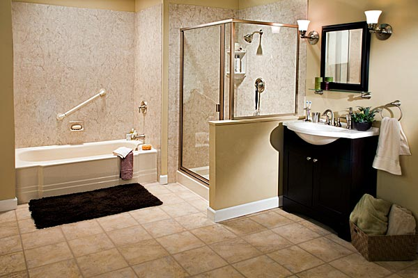 Walk in showers liberty home solutions llc for Bathroom remodel springfield mo