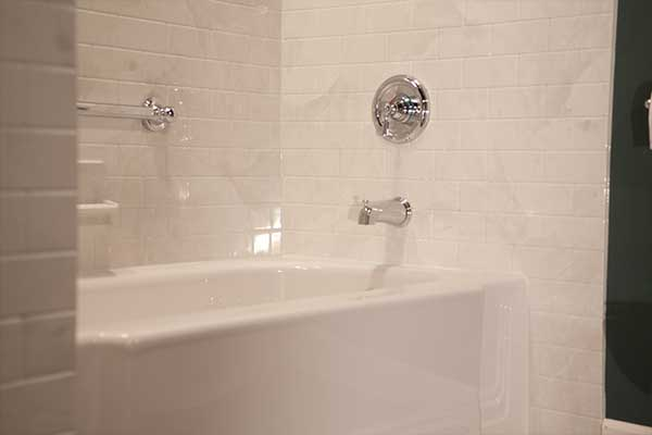 Subway tile bathroom walls liberty home solutions llc for Bathtub covers liners prices