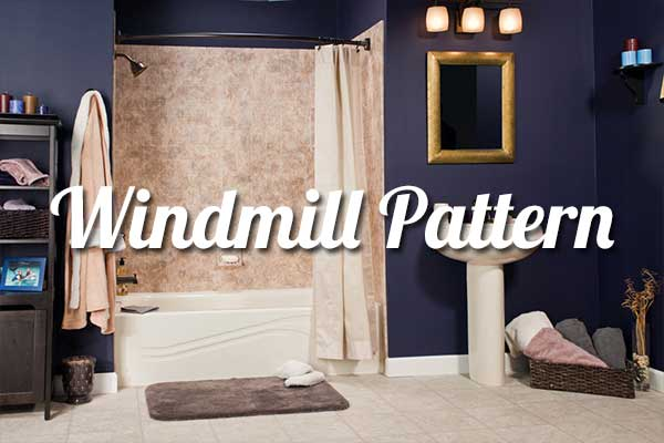 Windmill Tile Pattern for Bathrooms