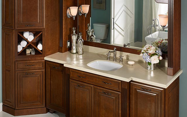 Wood bathroom cabinets springfield missouri liberty home for Bathroom cabinets yelp