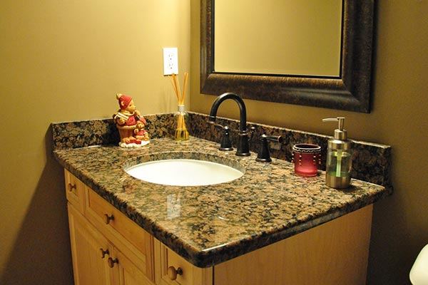 Bathroom Granite granite bathroom countertops - liberty home solutions, llc