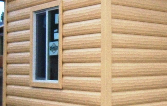 Pin log cabin vinyl siding reviews on pinterest for Log vinyl siding pictures