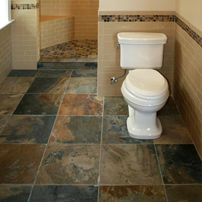 stone floor tiles bathroom slate tile for bathroom floors stone floor tiles liberty home solutions - Images Of Bathroom Floors
