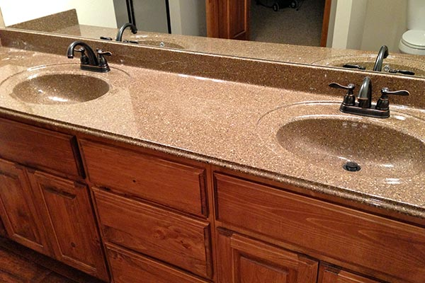 Bathroom countertops liberty home solutions llc for Solid surface counters