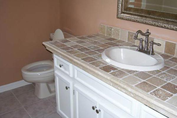 Bathroom countertops liberty home solutions llc for Tile countertops bathroom ideas