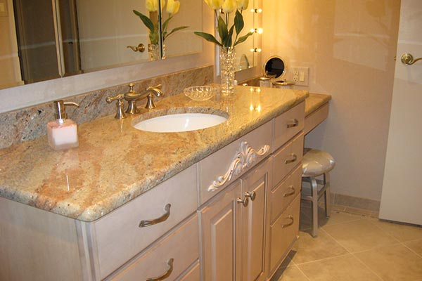 Bathroom countertops liberty home solutions llc - How to decorate a bathroom counter ...
