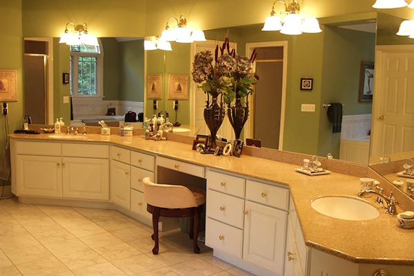 Bathroom countertops liberty home solutions llc for Bathroom ideas with quartz