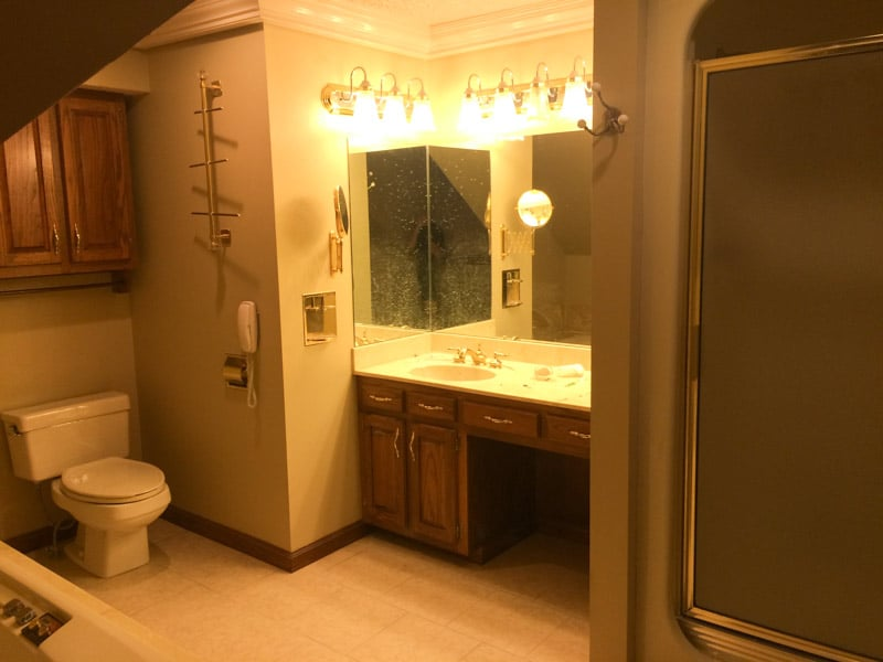 Showcase of current bathroom remodel project in springfield missouri liberty home solutions llc for Bathroom remodel springfield mo