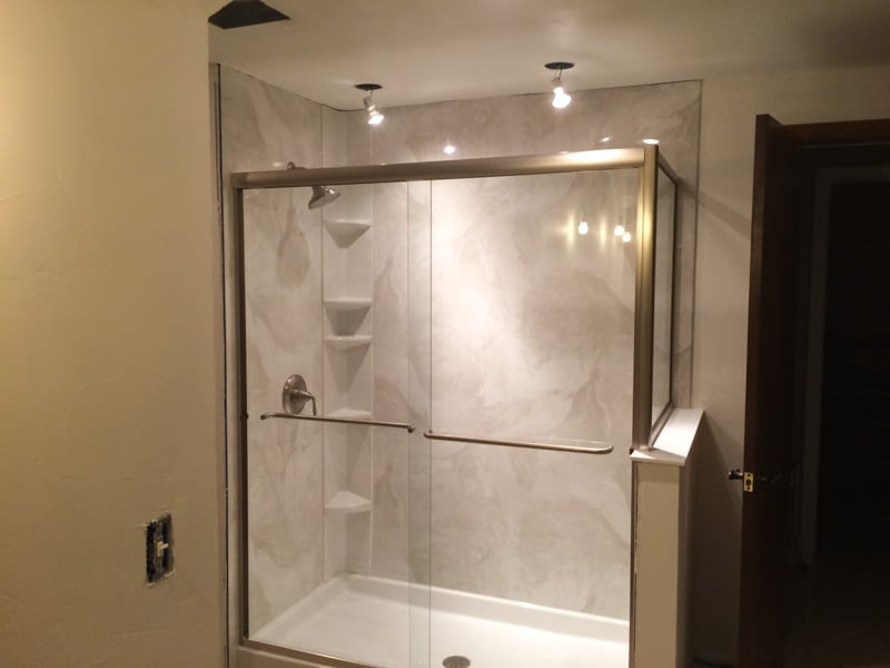 Showcase of current bathroom remodel project in