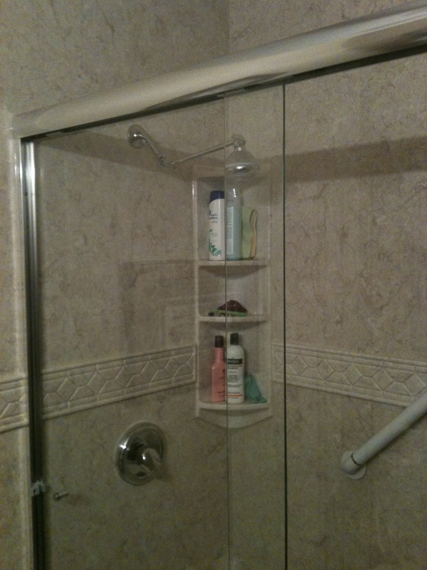 Acrylic Shower Wall with Trim and Corner Caddy - Liberty Home ...